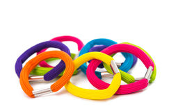 Color elastic bands for hair Royalty Free Stock Photography