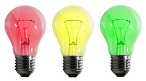 Color electric lamp Royalty Free Stock Photo
