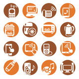 Color electronic devices icons Royalty Free Stock Photo