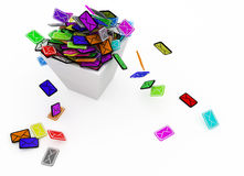 Color Email Bin Royalty Free Stock Images