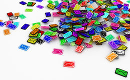 Color Email Pile Royalty Free Stock Images