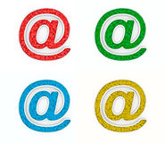 Color email signs Stock Images