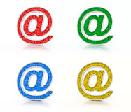 Color email signs Stock Photography