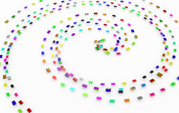 Color Email Spiral Royalty Free Stock Photography
