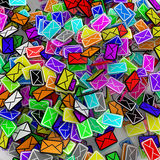 Color Email Square Stock Photos
