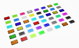 Color Emails Royalty Free Stock Photo