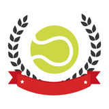 Color emblem with olive crown and tennis ball Royalty Free Stock Image