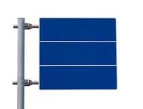 Color en blanco del azul de la placa de calle Imagenes de archivo