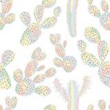 Color en colores pastel inconsútil del cactus Imagen de archivo