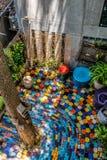 Color en el jardín en el medio de la casa fotografía de archivo libre de regalías