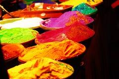 Color en la noche en el festival Fotos de archivo