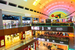 Color entrance at Dubai Mall Stock Photo