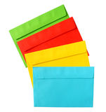 Color envelopes. The backs of color envelopes Royalty Free Stock Image