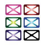 Color envelopes. Shipping, sending, message, couriers, delivery, envelopes, letters, logistics, mail, packages,e envelope mail sign letter clip computer vector illustration