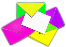 Color envelopes Stock Image
