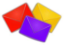 Color envelopes Royalty Free Stock Photography