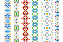 Color ethnic ornament Stock Images