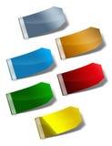 color etiketter royaltyfri illustrationer