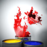 Color explosion Stock Image