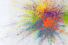 Color explosion concept with holi powder Royalty Free Stock Images