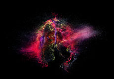 Color explosion. High speed photography of ink color explosion Royalty Free Stock Image