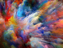 Color Explosion. We Live Series. Interplay of intense colors on the subject of inner world, dreams and spirituality Royalty Free Stock Photography