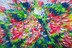 Color extrusion floral background, bright colorful abstract, ext Royalty Free Stock Photo