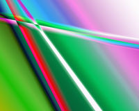 Color extrusion pyramids and blocks Abstract colorful 3D extrusi Stock Image