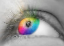 A color eye. Sight concept Royalty Free Stock Photography