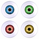 Color eyeball. Four color eyeball isoalted on white Royalty Free Stock Photo