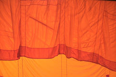 Color fabric orange Texture  used as background. Royalty Free Stock Images