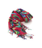 Color fabric scarf Stock Image