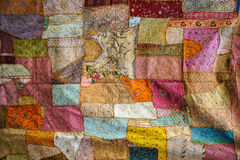 Color Fabric texture. Traditional arabic colourful material for cloth and decoration Royalty Free Stock Image