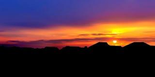 Color 2013 fabuloso de la puesta del sol Fotografía de archivo