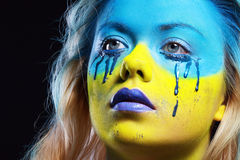 Color face art Royalty Free Stock Image