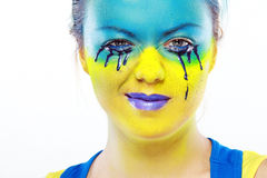 Color face art Stock Photography