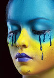 Color face art Royalty Free Stock Images