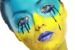 Color face art Royalty Free Stock Photos