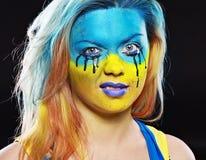 Color face art Stock Photo