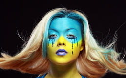 Color face art Stock Image