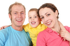 Color family with boy Stock Image