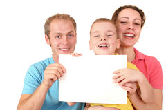 Color family with card Royalty Free Stock Photos