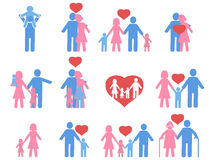 Color family icons set Royalty Free Stock Photos