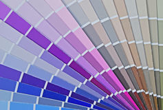 Color Fan Chart for House Paint. From gray to blue with wide selection Royalty Free Stock Photography