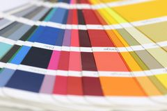 Color fan deck Royalty Free Stock Photography