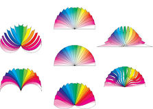 Color Fan Design Stock Image