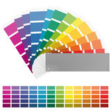 Color fan with twelve colors Stock Images