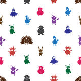Color farm animals with mild mental disabilities seamless pattern eps10 Royalty Free Stock Image