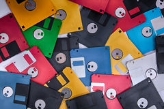 Color fdd disks as history background Stock Photos