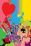 Color feliz de Holi que derrite amor oscuro Fotografía de archivo libre de regalías